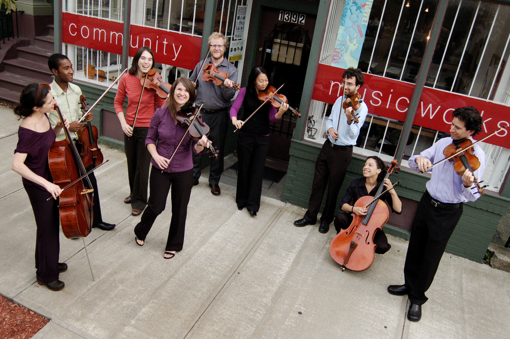 Community MusicWorks' West Side storefront and resident musicians