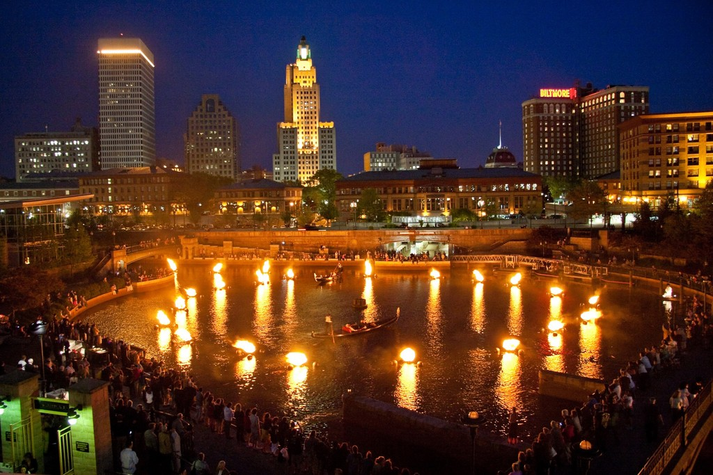 The basin fires at WaterFire