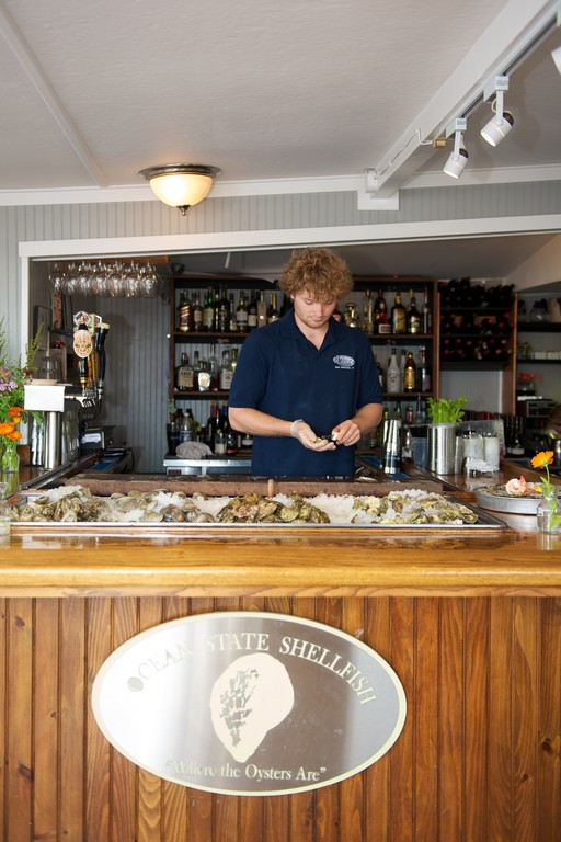 Oysters are always being freshly shucked at Matunuck Oyster Bar