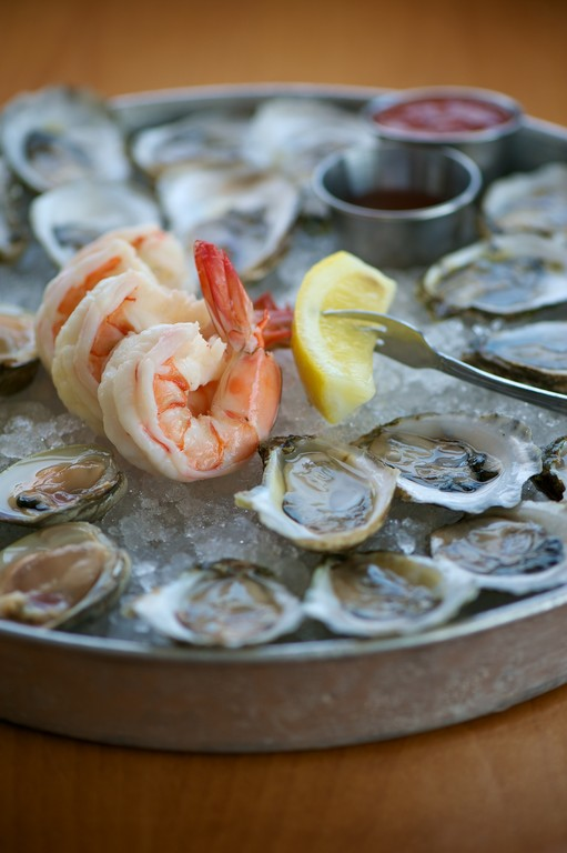 The Islander: An assortment of 12 RI grown oysters, 6 littleneck clams and 4 cocktail shrimp