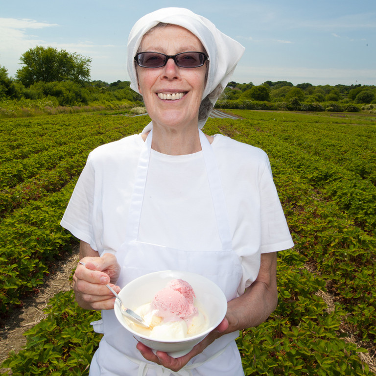 Susanna Williams of Susanna's Ice Cream at Sweet Berry Farm in Middletown