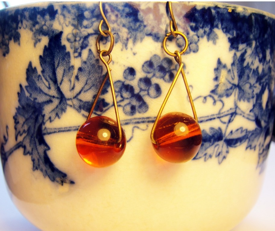Swing Set Earrings by Pushing Buttons
