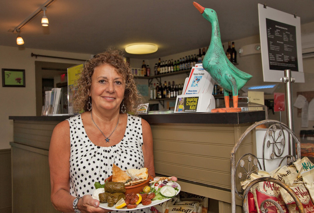 Christine Lambrenos owns the Black Goose Cafe in Little Compton