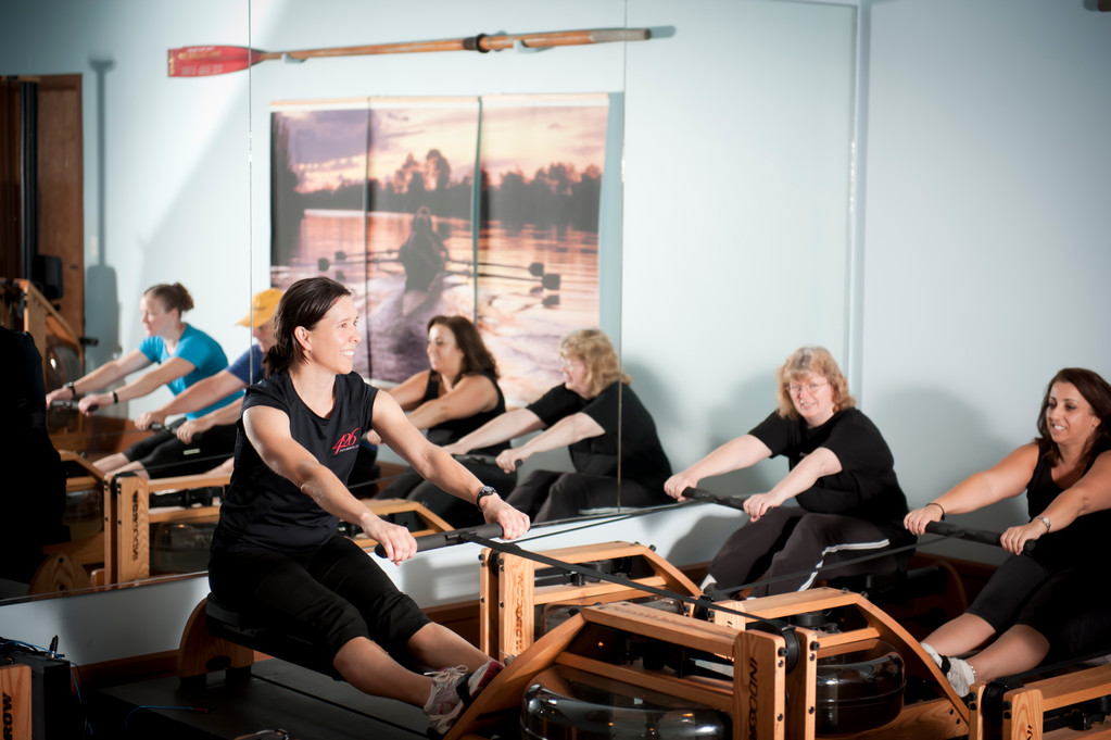 Jill Lancaster teaches Indo-Rowing at 426 Fitness in Warren