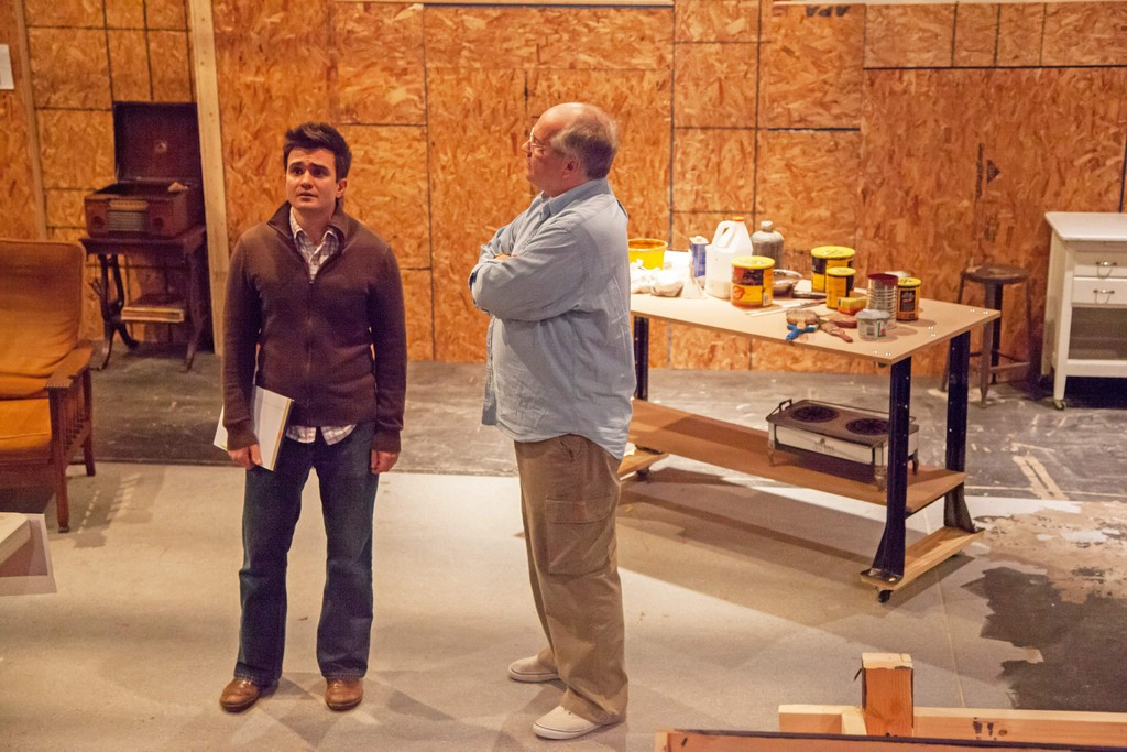 Marc Dante Mancini (L) and Fred Sullivan, Jr. (R) in the Gamm Theatre's RI premiere of Red, about the artist Mark Rothko