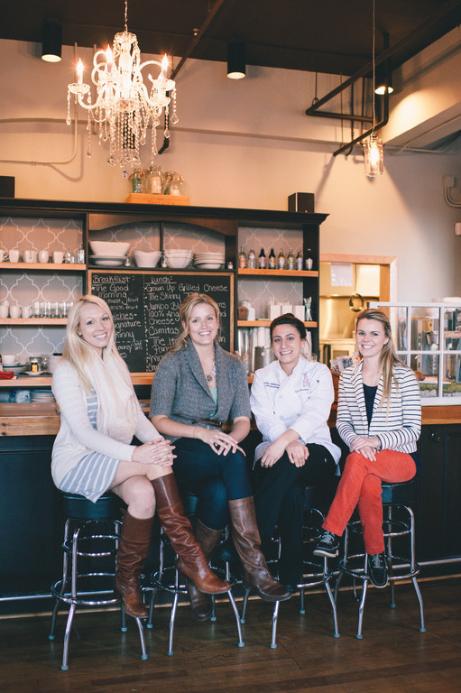 The staff of Easy Entertaining, including owner Katie Roberts (second from left)