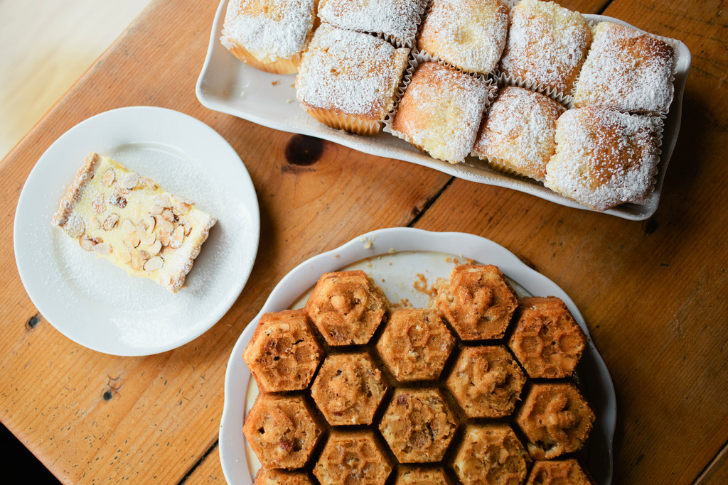 Freshly baked pastries at the Beehive Café