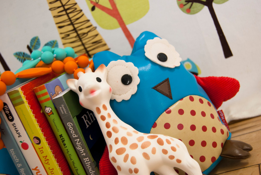 The colorful Chewbeads and Sophie la Giraffe are perfect for your teething little one
