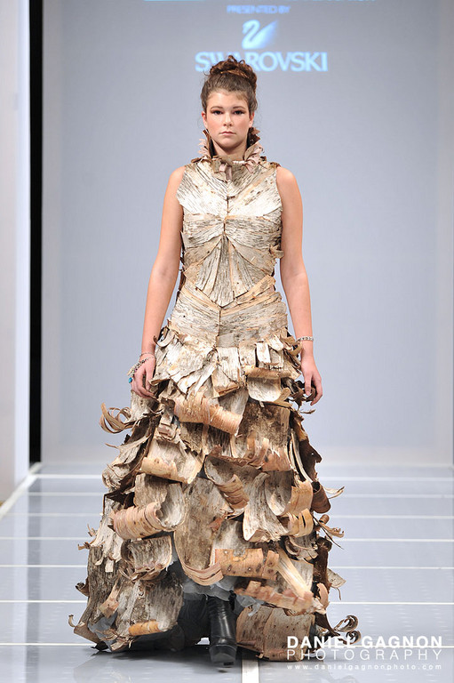 Birch Bark Dress by Jessica Tenczar of Mass Art