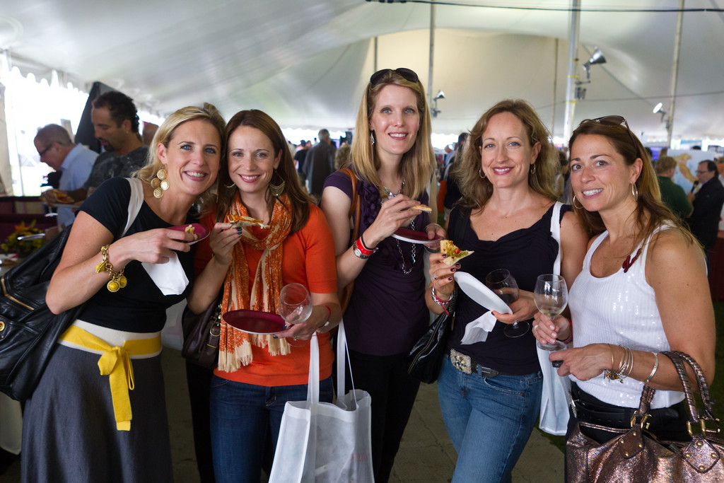 The Grand Tasting offers delicious food and wine from around the country