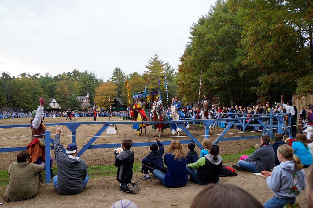 Knights of the realm joust at King Richard's Faire
