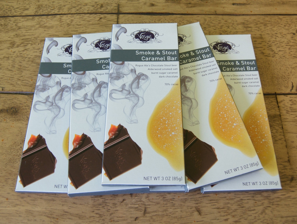 Vosges caramel chocolate bars: $10