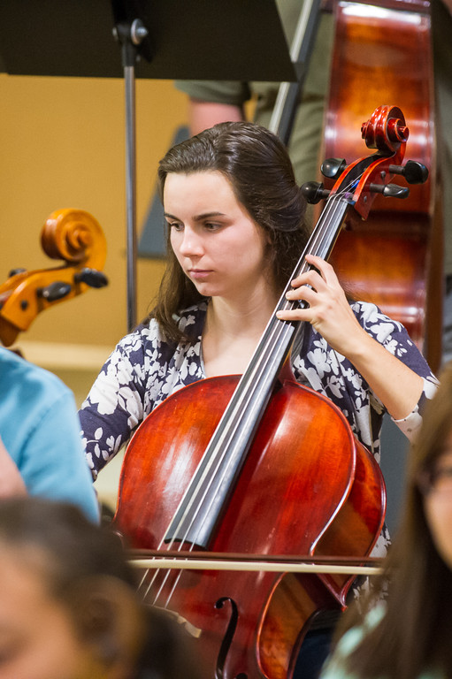 The RI Philharmonic Youth Symphony Orchestra in rehearsal at the Music School