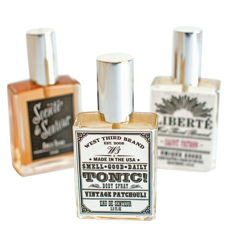 PerfumesWest Third Brand fragrances; $28 each at J Marcel. J Marcel Bags, boots, and shiny objects! Everything a girl could want: perfume, scarves, hats, costume and designer jewelry, hair accessories, and gifts galore. 808 Hope St., Providence. 383-9777.
