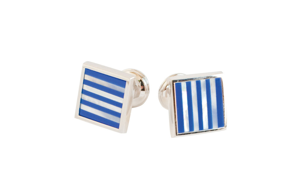 Striped CufflinksBaade Lapis rhodium finish cufflinks; $155 at Milan Clothiers. MilanWhen shopping for men, turn to Milan for their unique, one-of-a-kind clothing and accessory selections. Too many choices? Gift certificates are always perfect. 178 Wayland Ave., Providence. 621-6452.