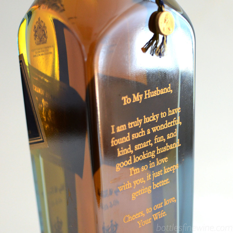 Cards are lame! Have your special message etched on the back of their favorite bottle of whiskey, wine, or champagne. Order now! Much better.