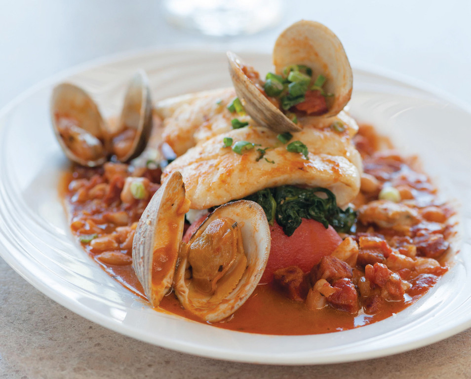 Twin WIllows offers classic seafood with a twist, like this Haddock Portuguese