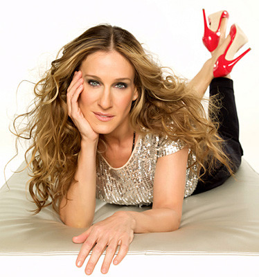 Carrie Bradshaw, played by Sarah Jessica Parker, protagonist of Sex and the City