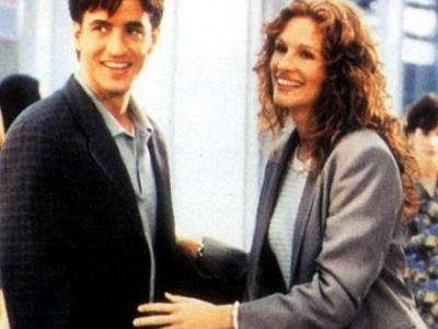 Julianne Potter and Michael O'Neal, played by Julia Roberts and Dermot Mulroney in My Best Friend's Wedding