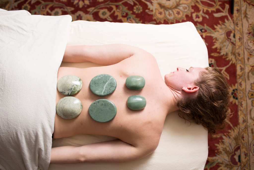 Hot stone therapy at Middletown's SpaVana