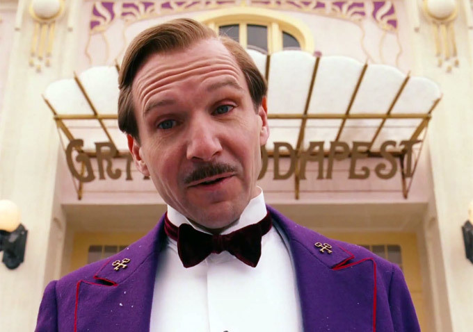 Ralph Fiennes as Gustave in Wes Anderson's The Grand Budapest Hotel
