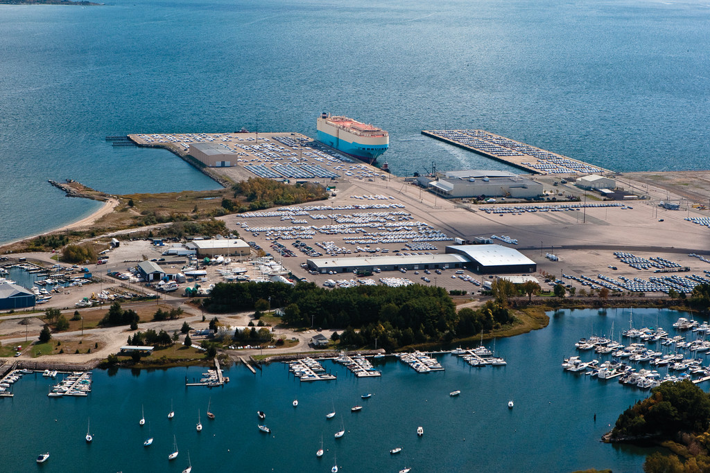 Allen Harbor and the NORAD auto import docks at Davisville in North Kingstown, RI