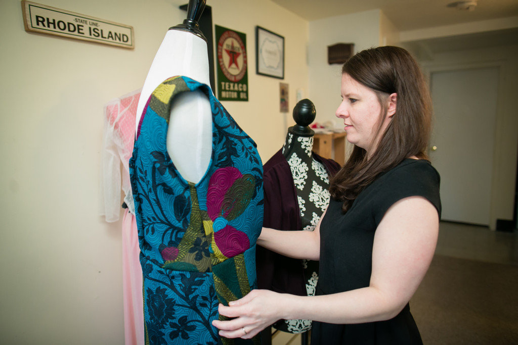 Custom garments are handmade from Narragansett designer Naomi Sauro