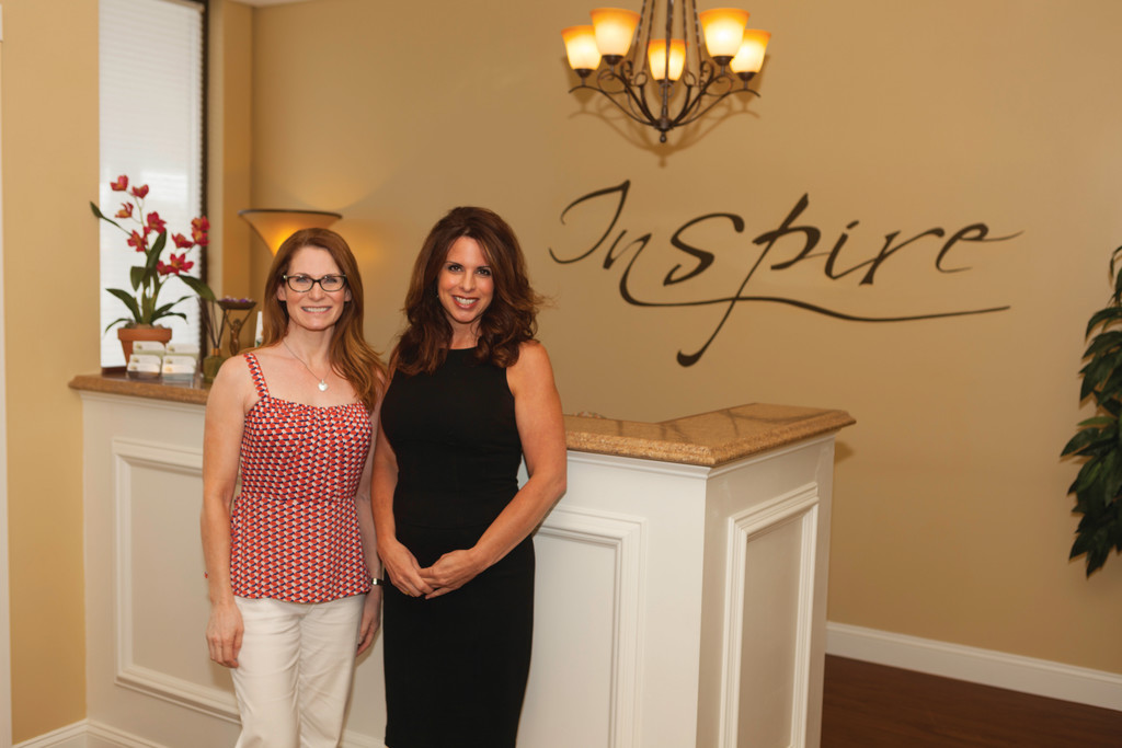 Jennifer Serafin and Pamela Lutes of Inspire Spa
