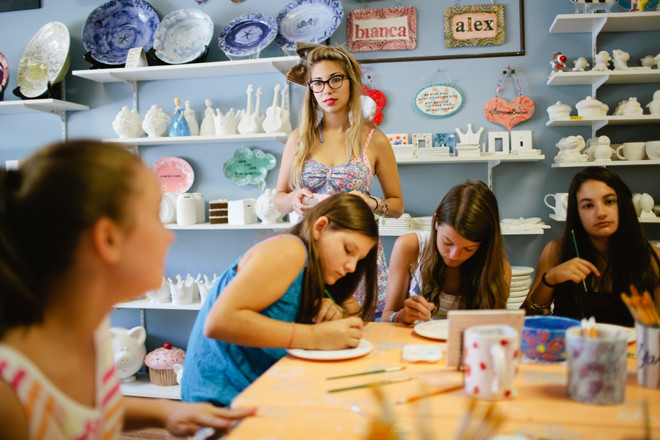 Let your kids get creative at Weirdgirl Creations pottery studio in Barrington