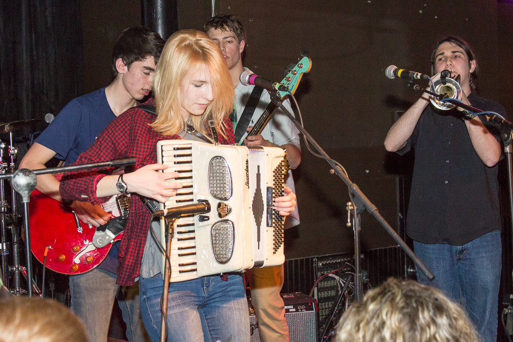 Public Alley breaks out the accordion at the WBRU Rock Hunt