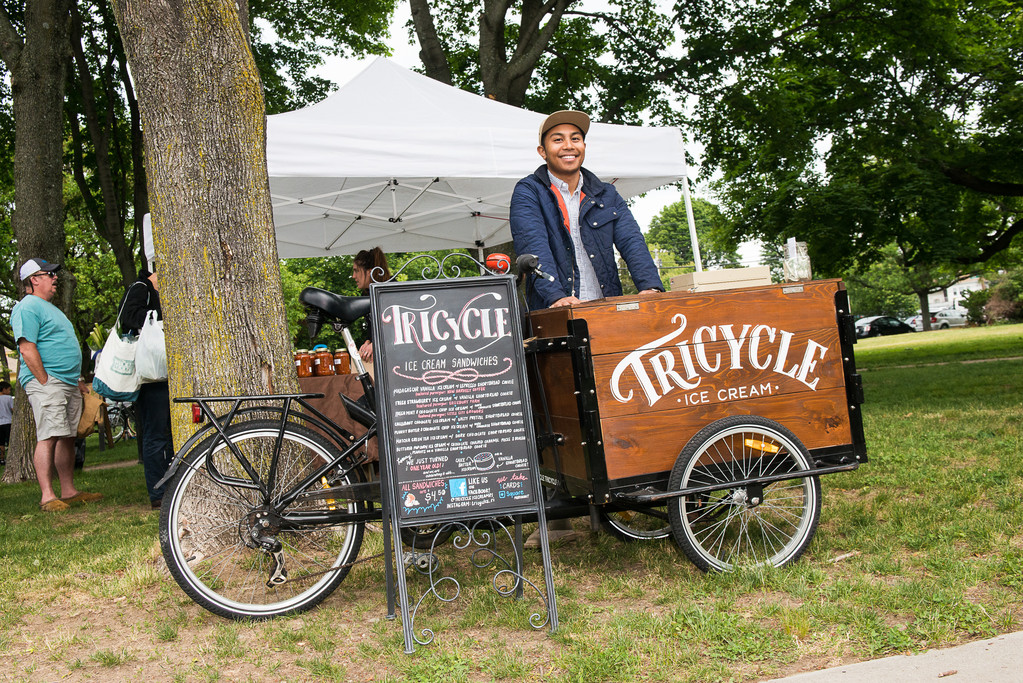 Giovanni Salvador of Tricylce Ice Cream cart