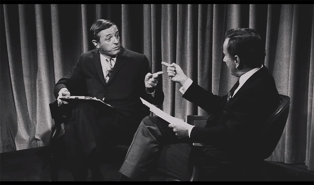 William Buckley and Gore Vidal square off in the documentary Best of Enemies playing this weekend at The Cable Car.
