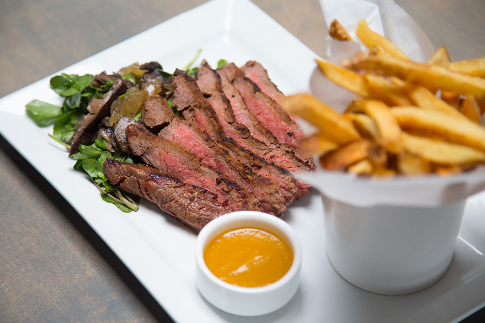 "Grilled Flank Steak ""Frites"""