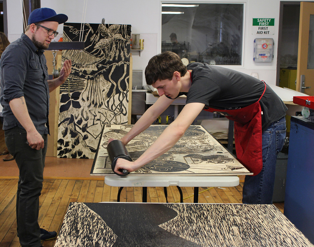 Take a large format printing class at AS220