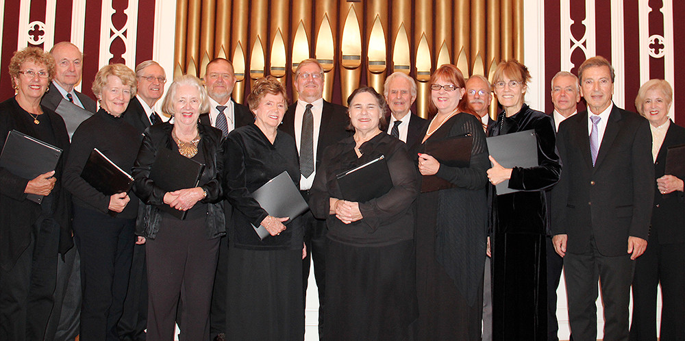 The South County Chamber Singers take the stage at the Courthouse Center stage on November 21