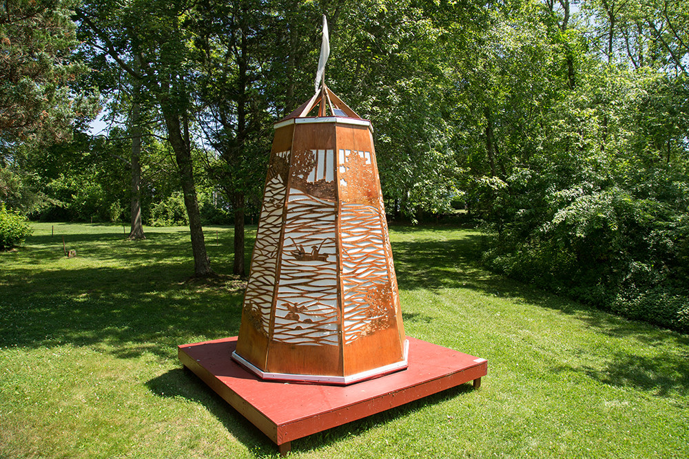 Tiverton Four Corners' Sculpture Park celebrates land and art with its sprawling outdoor gallery of grand sculptures