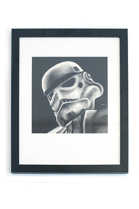 Star Wars Sketch – Scott William Simmons' charcoal on paper, framed; $250 at Providence Picture Frame