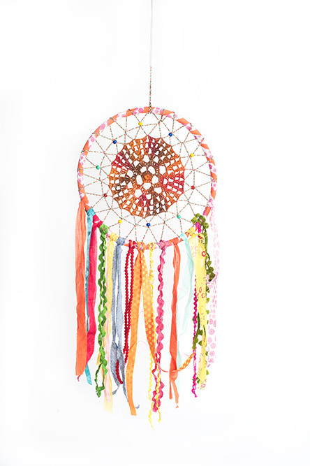 Dare to Dream – Bohemian dream catchers in a rainbow of colors; starting at $28.95 at The Purple Cow