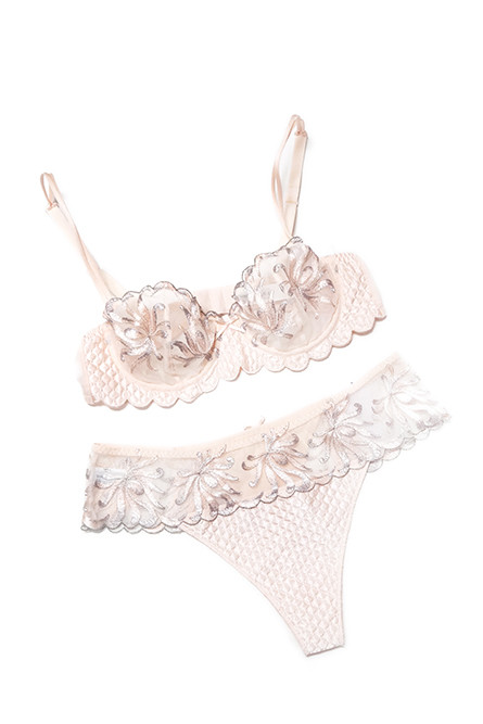 Pretty Lace – Imported French lace bra and quilted panty set; $175 (sold separately) at Mrs. Robinson Fine Lingerie
