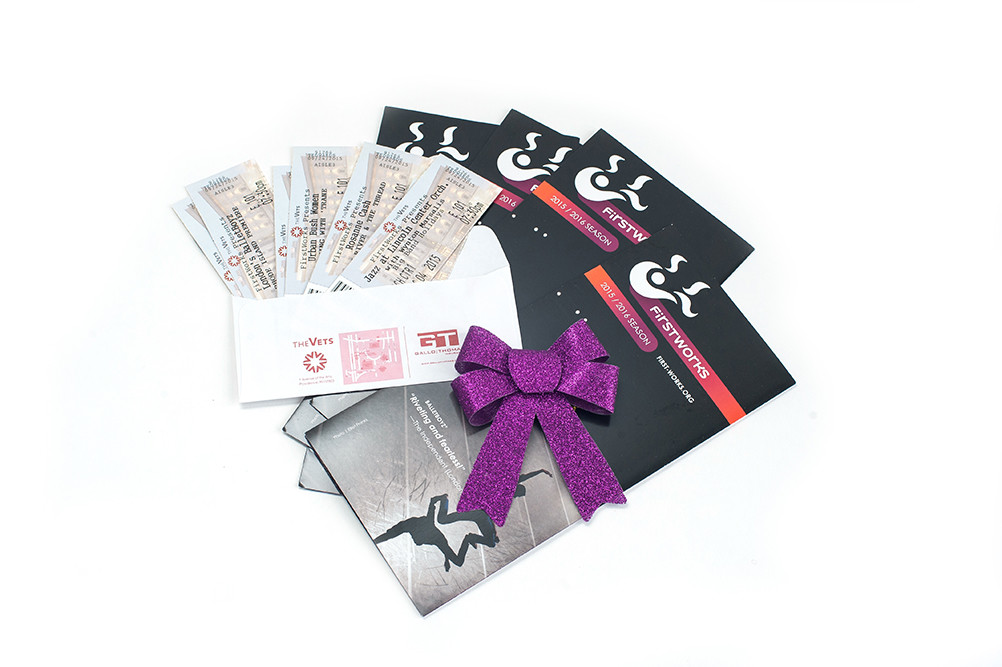Artful Giving – Gift certificates to any FirstWorks performance; starting at $15 at first-works.org