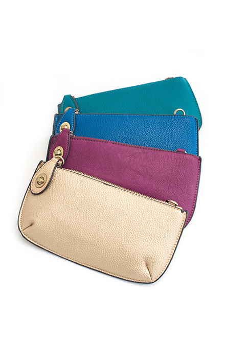 In the Clutch – Joy Susan clutch/wristlet/shoulder bag, available in 20 colors; $34 at Green Ink