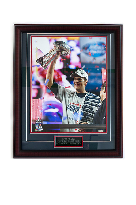 Patriot Nation – Framed Tom Brady 16x20 Super Bowl print; $99.95 at Sports and More