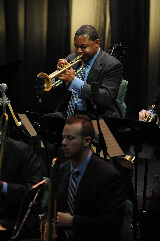 Wynton Marsalis leads the Jazz at Lincoln Center Orchestra at The Vets on December 4
