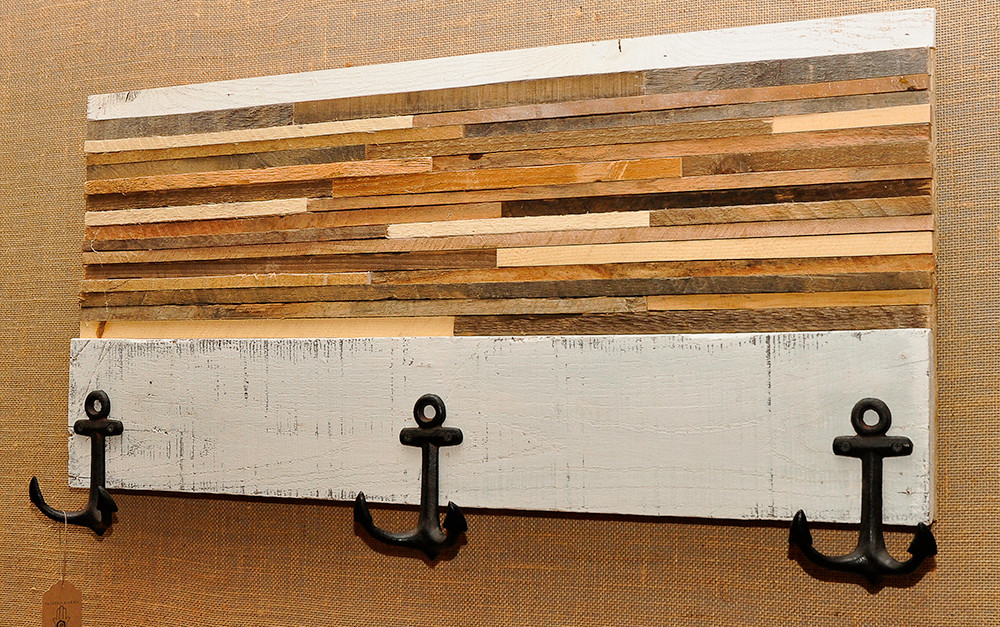 Reclaimed wood coat rack: $245