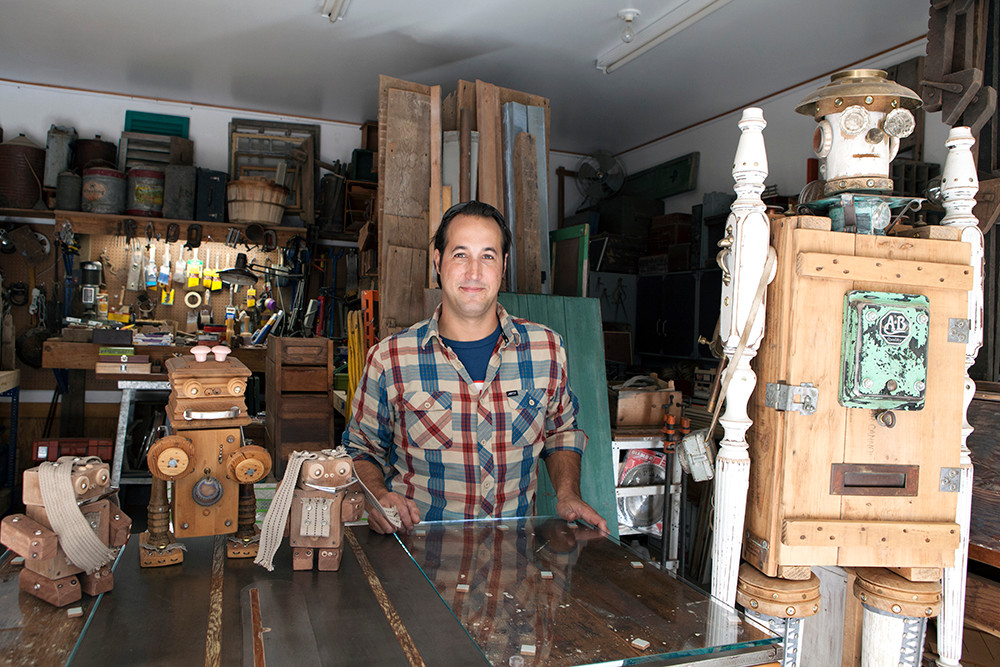 Part-artist, part-craftsman and part-picker, Kevin Travers breathes life into his cast of characters