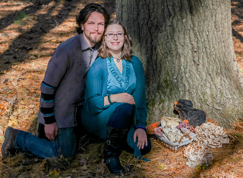 Southern New England Mushroom Hunters Ryan Bouchard and Emily Schmidt