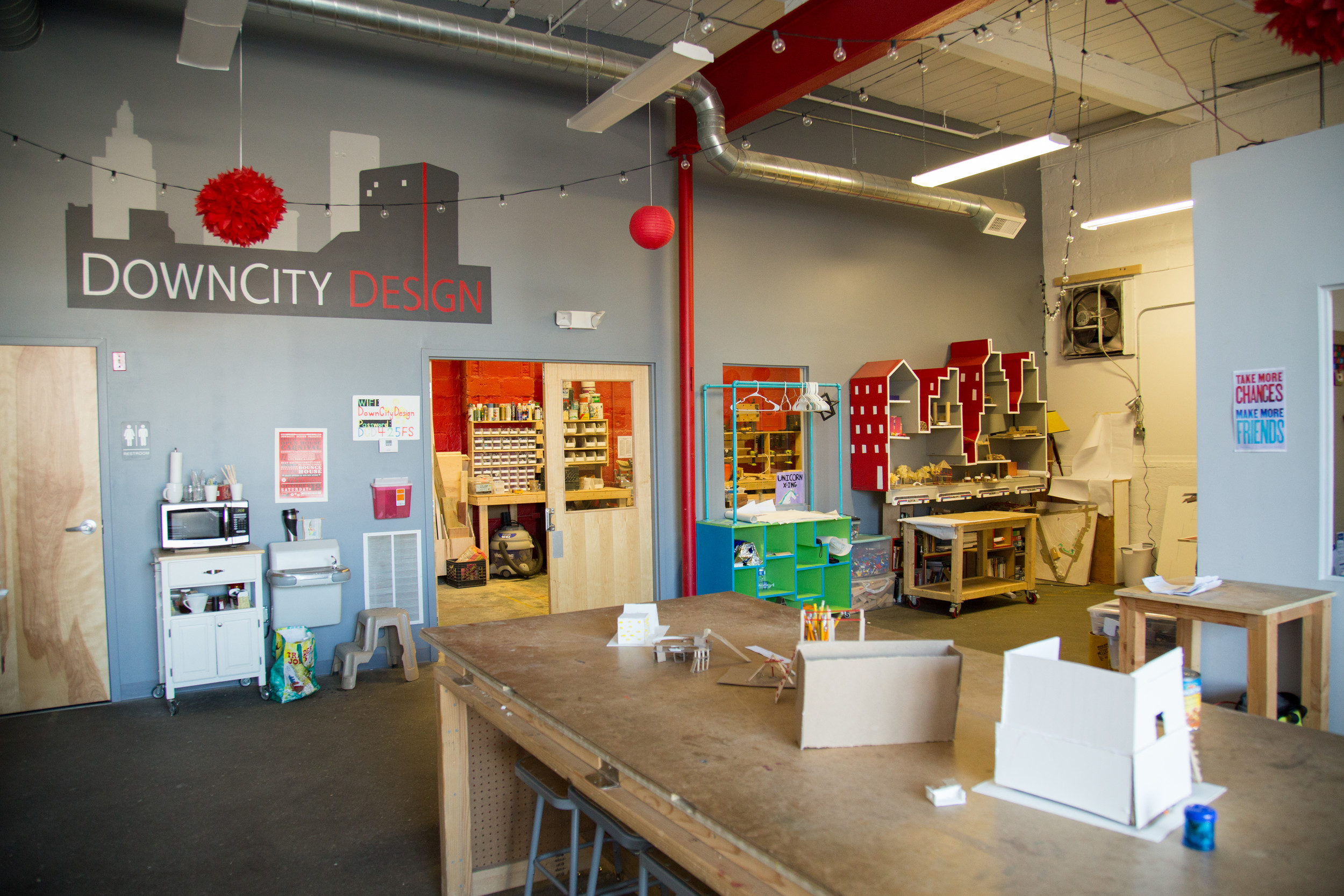 DownCity Design's new brick-and-mortar location provides its students with state of the art tools and resources.