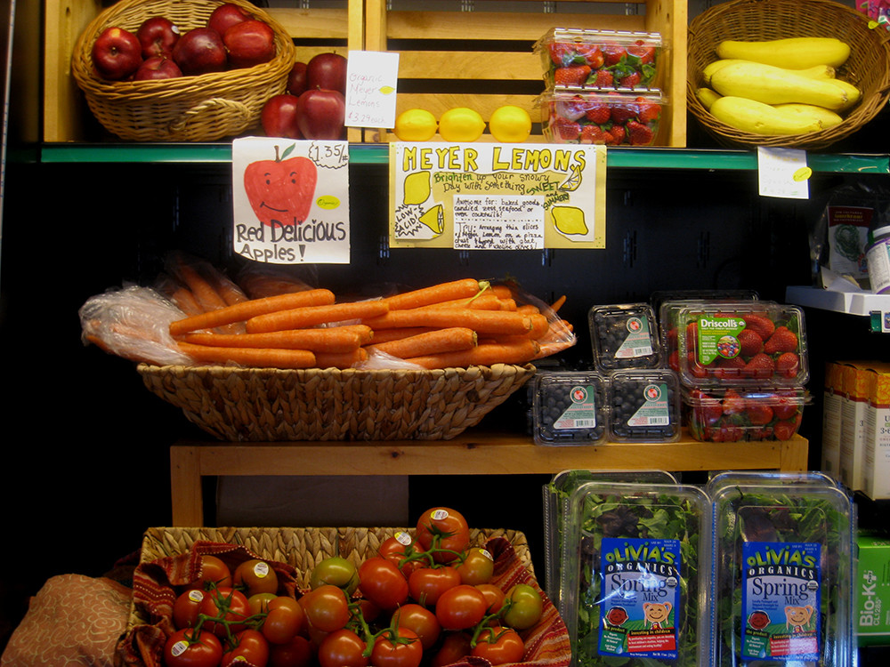 Fresh produce at Food For Thought in Wakefield