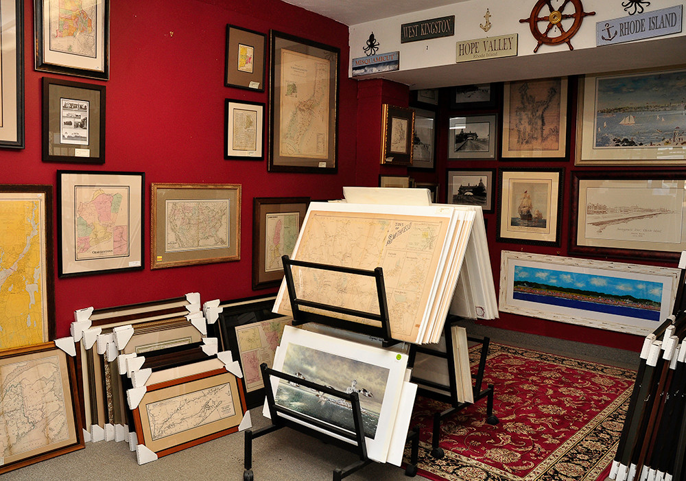Unframed antique maps, $30-$1,100