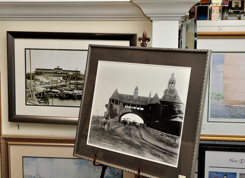 Black and white Giclee prints of old Narragansett, $50-$180 plus framing